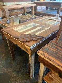Mesa Comedor 1.60 Maderas Recicladas Pinotea Rústica Vintage