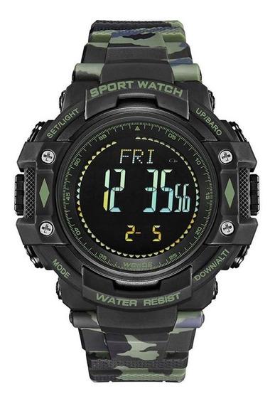Relógio Masculino Esportivo - Wa9j001 - Verde Camuflado