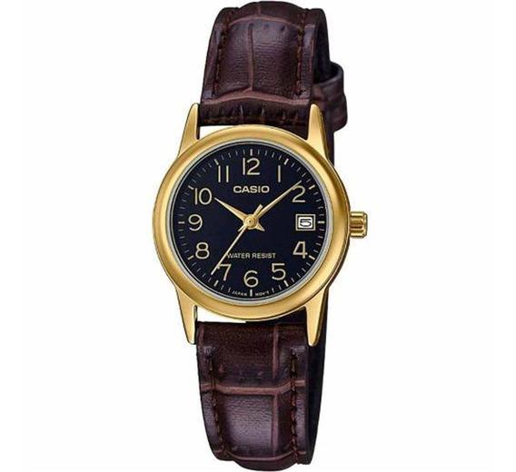 Relógio Feminino Casio Analógico Ltp-v002gl-1budf - Dourado