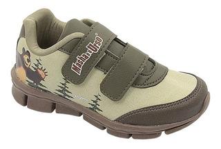Calçado Infantil Pé Com Pé Tenis Maron Masha E Urso 20 Ao 27