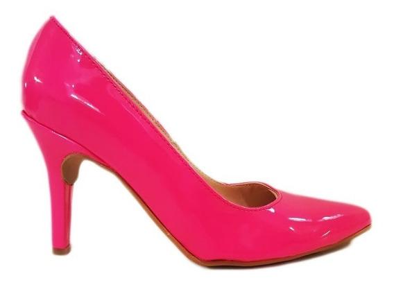 Zapato Stiletto Mujer Guillermina Charol Fluo Aguja