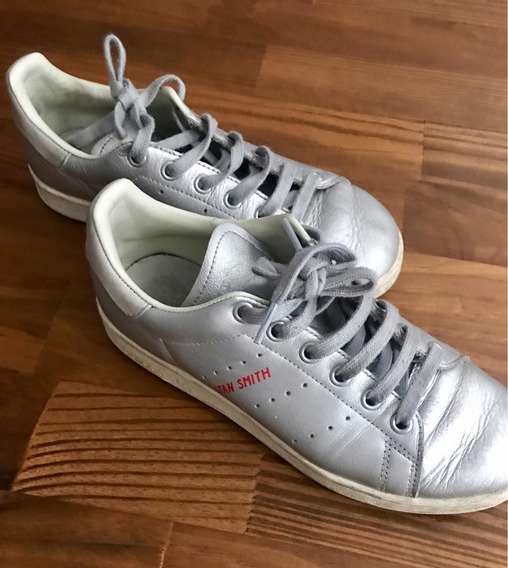 Zapatillas adidas Stan Smith Plateadas Talle 37 1/2