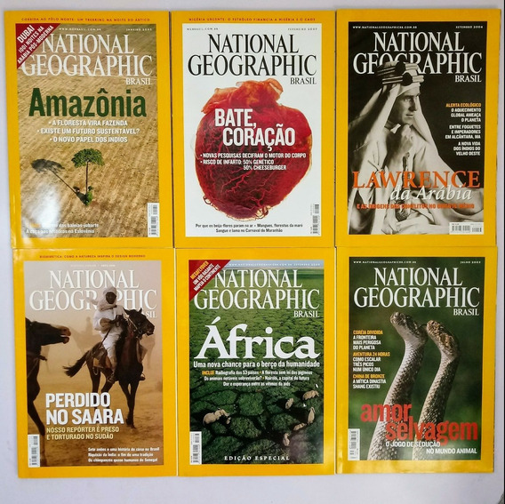 Lote De 30 Revistas National Geographic Brasil