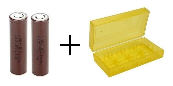 2 Baterias Pila Chocolate Lg 18650 Para Vapeador 3000 Mah