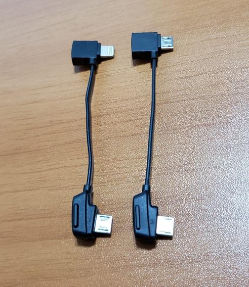 2 Cabos Otg Controle Mavic 100% Original iPhone E Micro V8