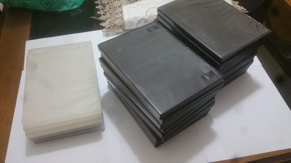 Lote Kit 20 Porta Caixa Dvd Capa Box Estojo Preto E Branco