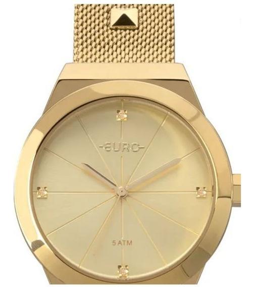 Relógio Euro Feminino Spike Dourado Eu2035yrj/4d Lindo