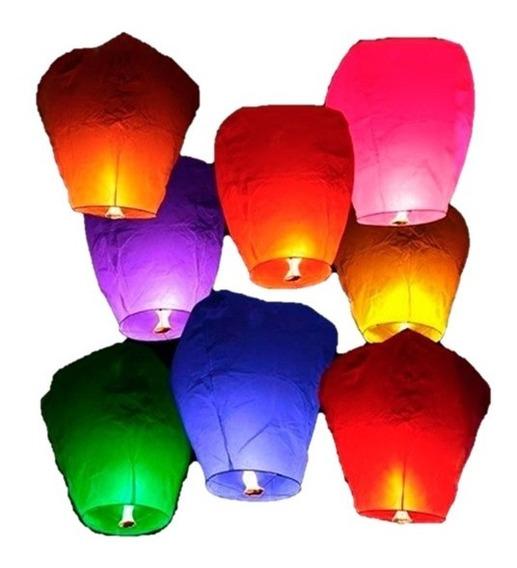 10 Globos De Cantoya Colores