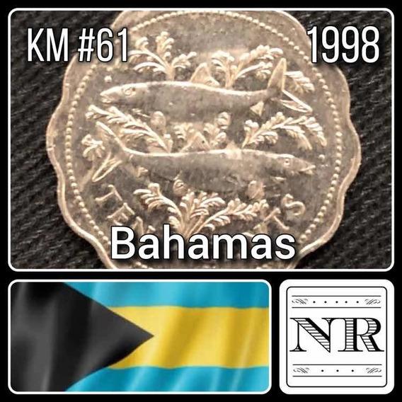 Bahamas - 10 Cents - Año 1998 - Km # 61 - Peces
