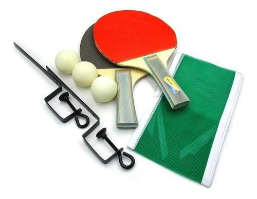 Set Ping Pong Blister Paletas Con Grip Pelotas Red Soportes
