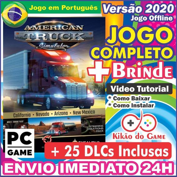 American Truck Simulator + Dlcs Pc Digital Br + Brinde