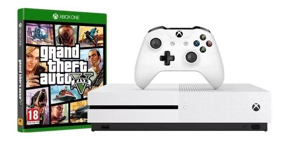 Kit Console Xbox One S 1tb Com 01 Controle + Gta V