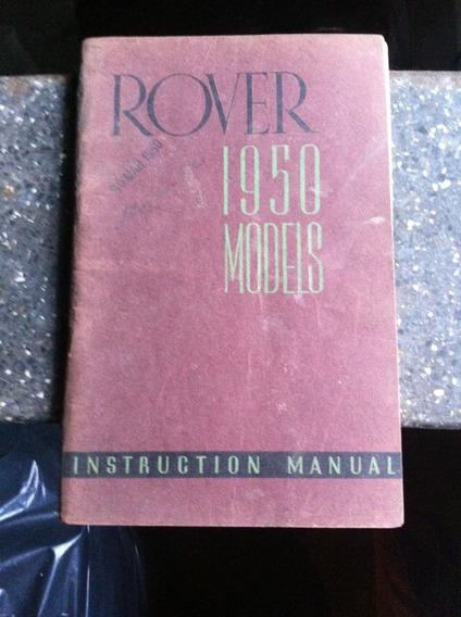 Manual Linha Rover 1950 Original Inglês
