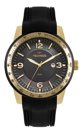 Relógio Technos Dourado Esportivo Novo + Estojo - Leilão