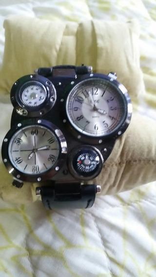 Relógios Militar Com Fuso Horário E Bulsola Medidor De Grau