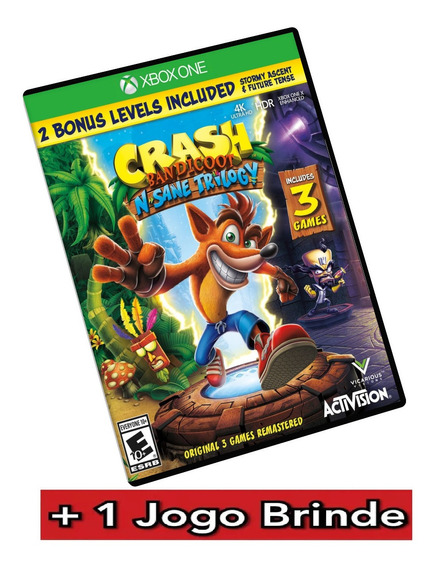 Crash Bandicoot Xbox One Midia Digital + Brinde