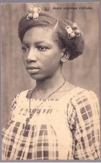 )2 Cartões Postais - Jovens Africanas - Congo