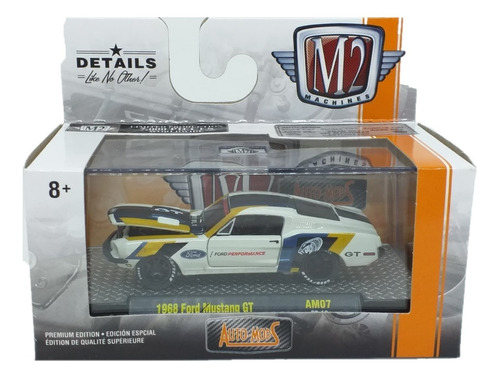 M2 Machines Auto Mods 1968 Ford Mustang Gt  1:64