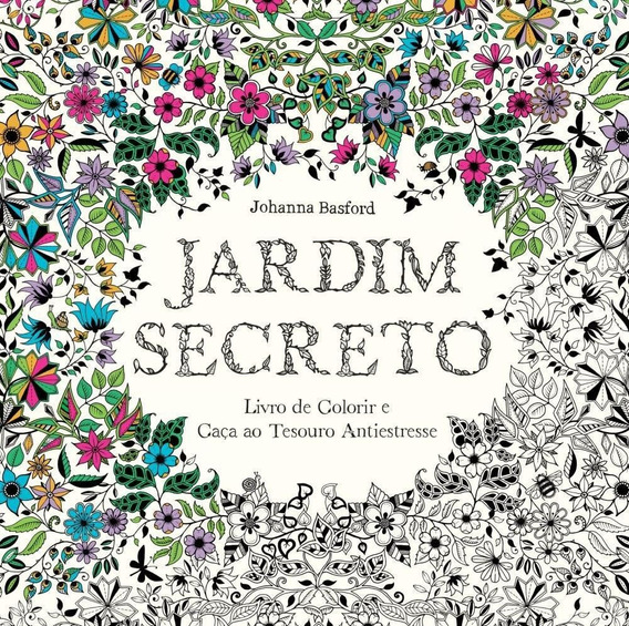 Jardim Secreto Livro De Colorir E Caça Ao Tes