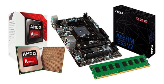 Kit Gamer Amd A6 7480 + Placa A68hm-e33 + 4gb Ddr3 + Nfe