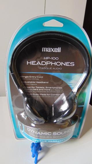 Headphones (supra-auricular Stéreo, Cabo 1,2m)*maxell Hp-100