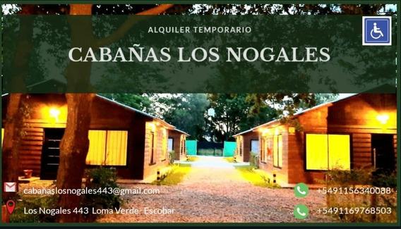 Cabañas Los Nogales Escobar Alojamiento Temporal Día Sem Mes