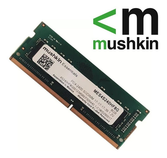 Memoria Ram Mushkin Essentials 8gb Ddr4 2666mhz Sodimm
