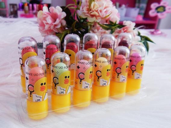 Kit De 12 Mini Balsamos Labiales Emoji Spa Nenas