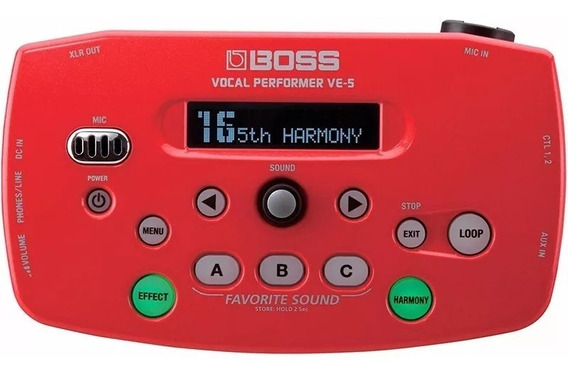 Pedal Processador Voz Boss Ve-5 Vocal Performer Pedal Roland