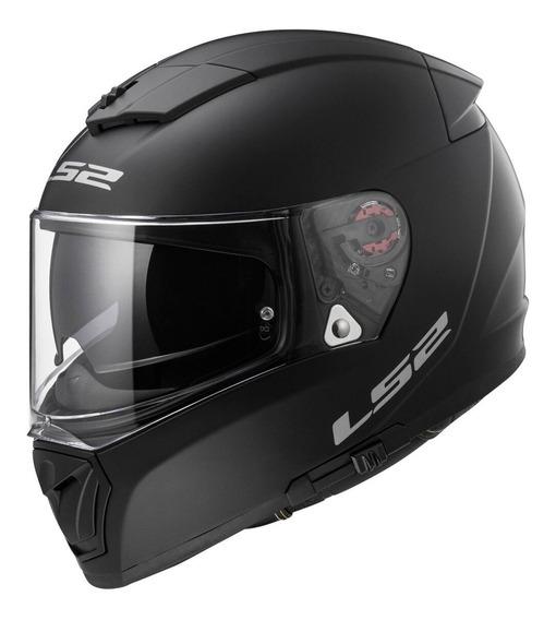Casco Moto Integral Ls2 390 Breaker Negro Mate Doble Visor