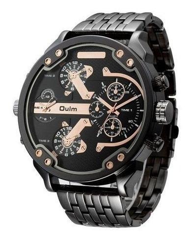 Relógio Oulm Metal (preto)