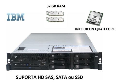 Servidor Ibm X3650 2 Intel Quadcore E5310  2tb Sata 32 Gbram