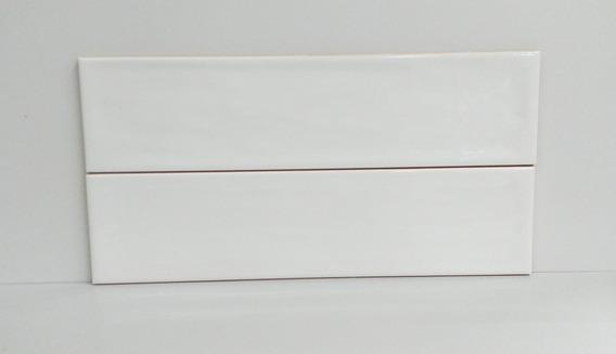 Azulejo Flow White Brillante 7,7x30,5 1ra Cal Roca