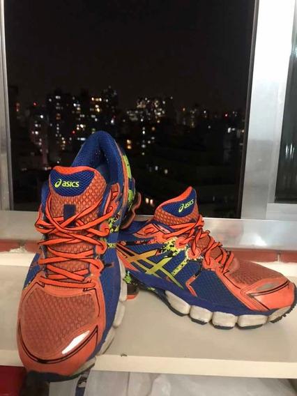 Tênis Asics Gel Sendai 2 Laranja E Azul