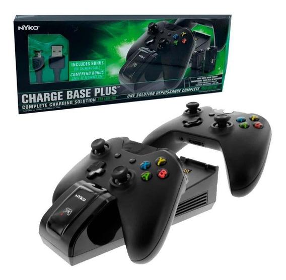Charge Base Plus Para Xbox One Baterias+base+cabo Nyko
