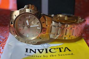 Relógio Invicta 43628-005 18k Aço Inox Banhado A Ouro 18k