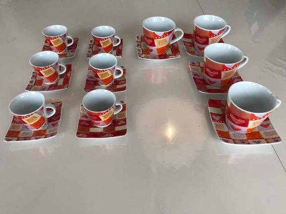 Juego De Tazas De Ceramica. Cafe Y Te