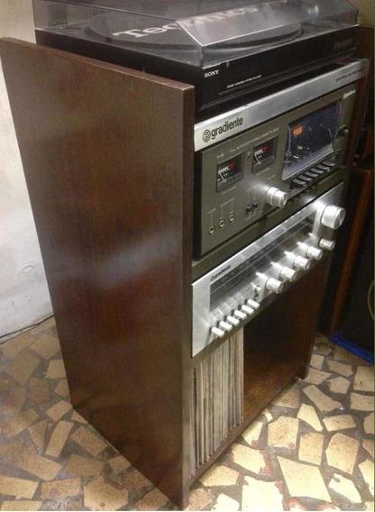 Rack Vintage Gradiente System S95/125 Raro Original Madeira