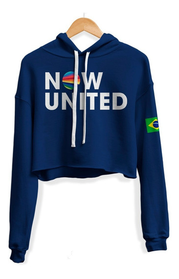 Moletom Cropped Now United Any Gabrielly 02 Bandeira Brasil