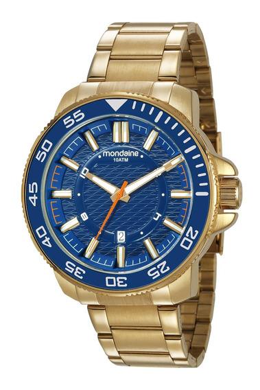 Relógio Masculino Mondaine 53644gpmvds1 50mm Aço Dourado