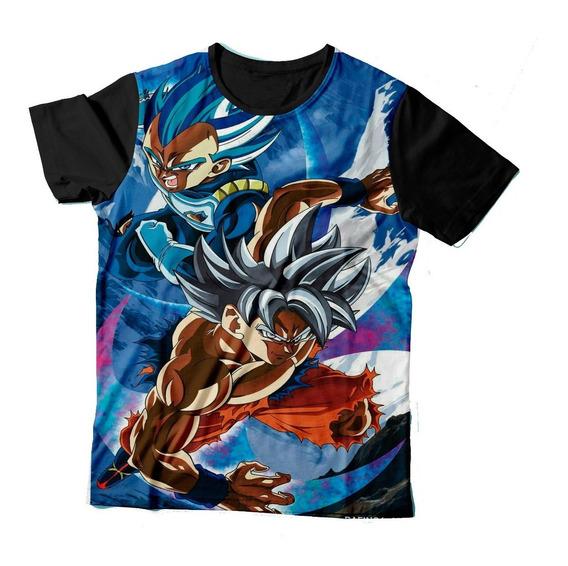 Camisa Camiseta Goku Vegeta Dragon Ball Super Blue Dbz Dbs