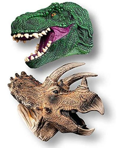 Imagen 1 de 7 de Dinosaurio Mano Puppet Cabeza, No Tóxico De Goma