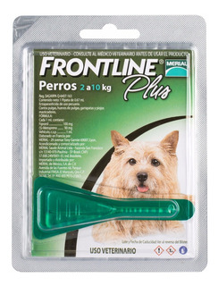 Frontline Plus Para Perro Chico 2 A 10 Kg - 1 Pipeta