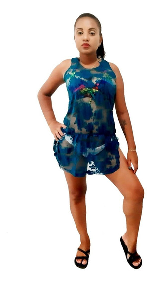 Vestido E Saida De Praia Regata Nadador P M G Cores Variadas