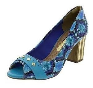 Sapato Feminino Anabela Via Marte Salto Peep Toe
