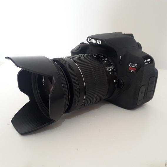 Câmera Canon T5i + 2 Baterias + Cartão De Memória 32gb