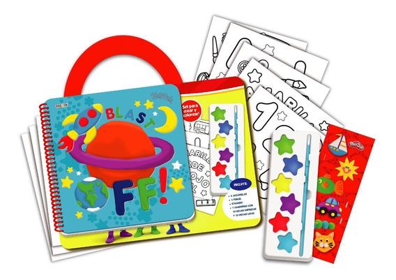 Maletin De Actividades Play Doh Libro Con Acuarelas Y Stiker