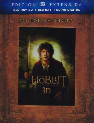 El Hobbit Un Viaje Inesperado Extendida Blu-ray 3d + Bd + Hd