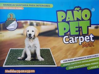 Bandeja Sanitaria Perros Paño Pet Carpet Large 70x55