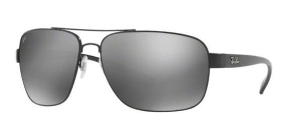 Oculos Sol Ray Ban Rb3567 006 6g 66mm Preto Cinza Espelhado